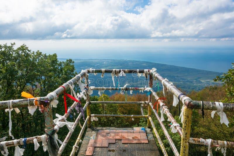 Eine Aussichtsplattform auf einer Höhe von 1005 Metern, Gagra, Abchasien stockfotos