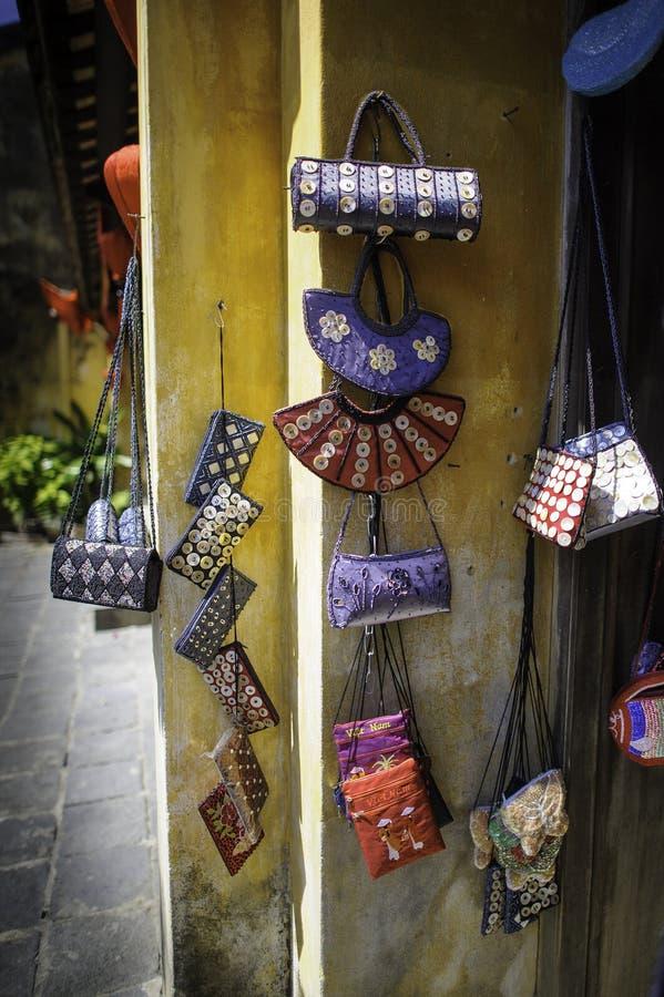 Handtaschen In Hoi-an Lizenzfreie Stockfotografie