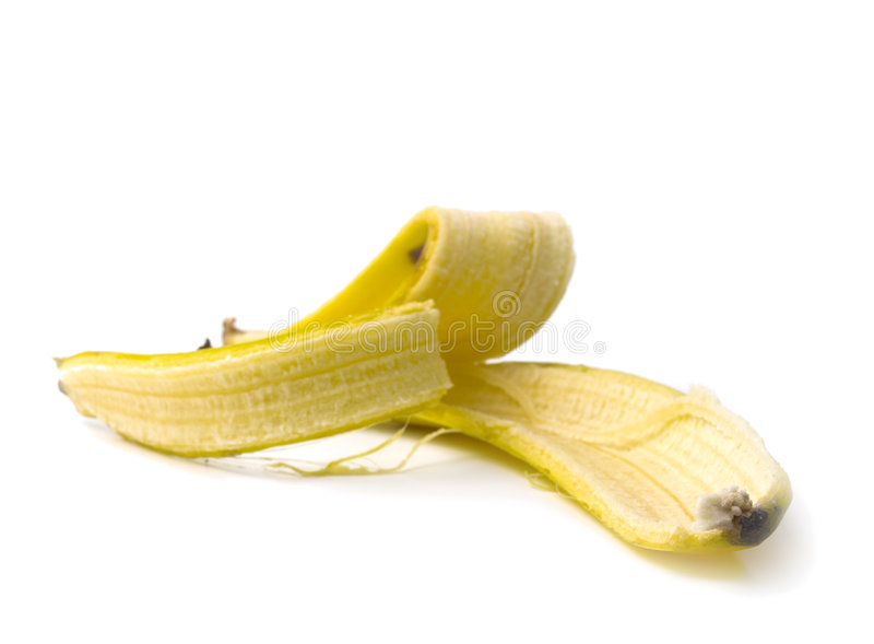 Eine Bananenhaut stockfoto