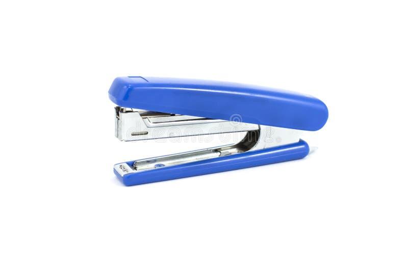 Eine blaue Heftermaschine stockfotografie