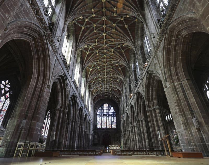 Eine Blick-innere Chester-Kathedrale, Cheshire, England lizenzfreie stockbilder