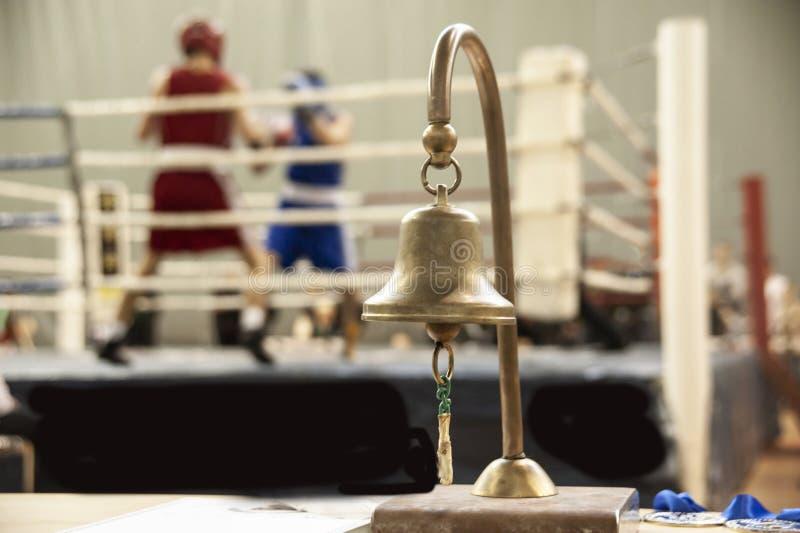 Eine Boxveranstaltung stockbild