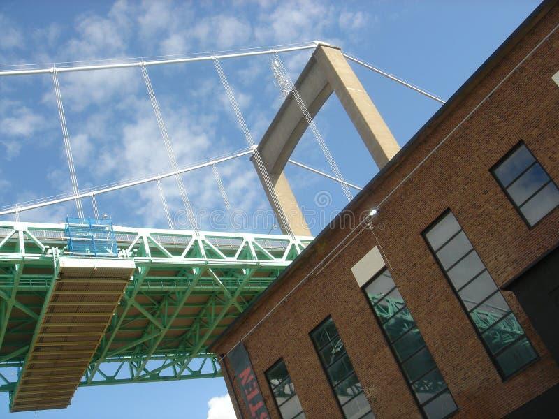 Eine Brücke auf dem Dach lizenzfreie stockfotografie