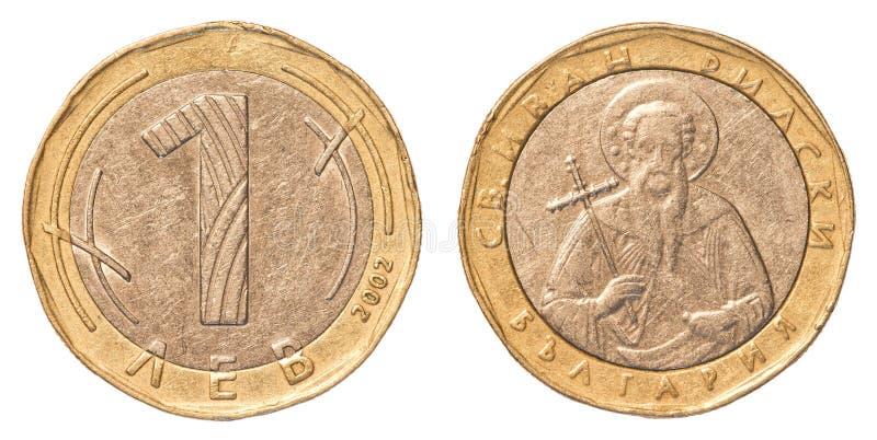 Eine Bulgarelevmünze lizenzfreie stockbilder