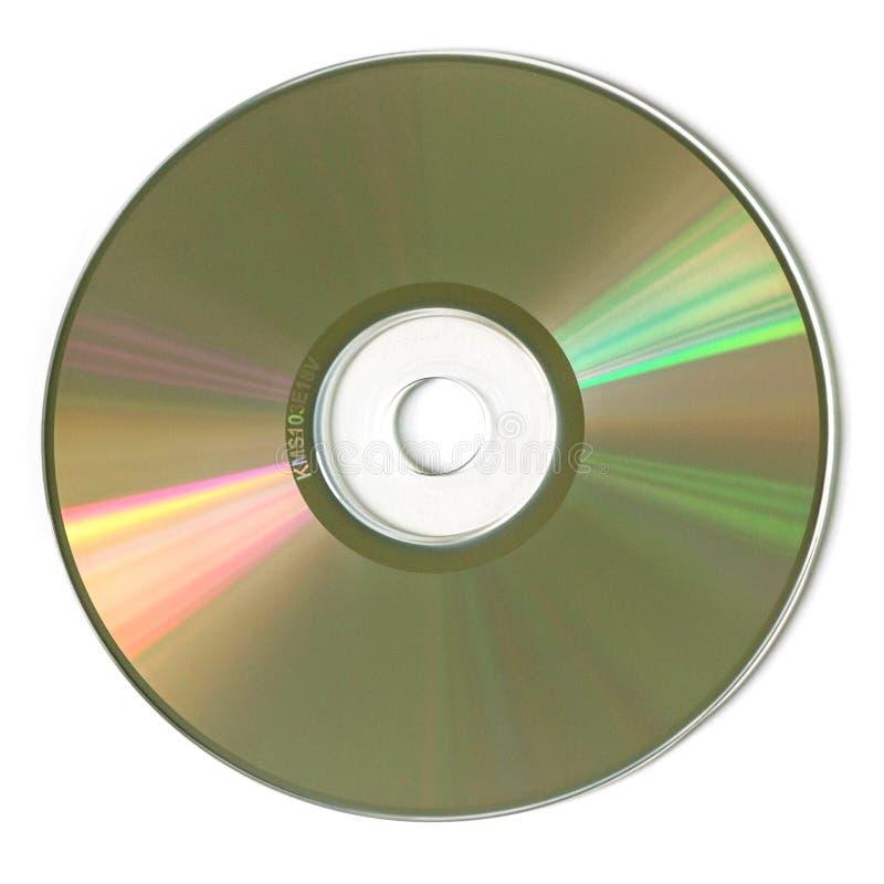 EINE CD-ROM im weißen Hintergrund stockfoto