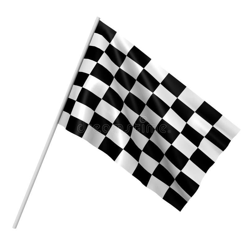 Eine checkered Rennenmarkierungsfahne - ein Bild 3d vektor abbildung