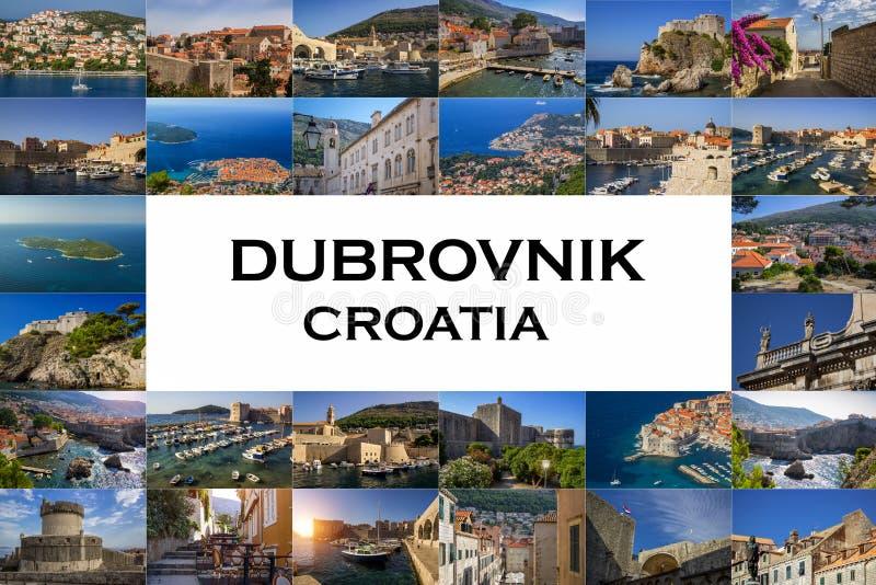 Eine Collage von Fotos der Stadt von Dubrovnik kroatien lizenzfreies stockfoto