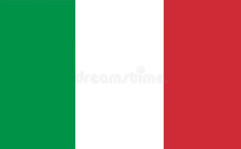 Eine computererzeugte Grafikillustration der Flagge von Italien lizenzfreie abbildung