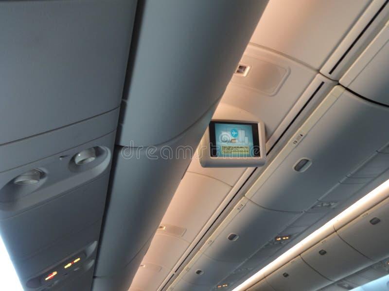 Eine Decke eines Flugzeuges lizenzfreies stockbild