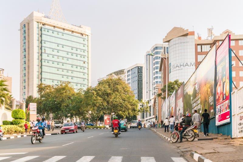 Eine der saubersten Städte in Afrika, Kigali stockfotos