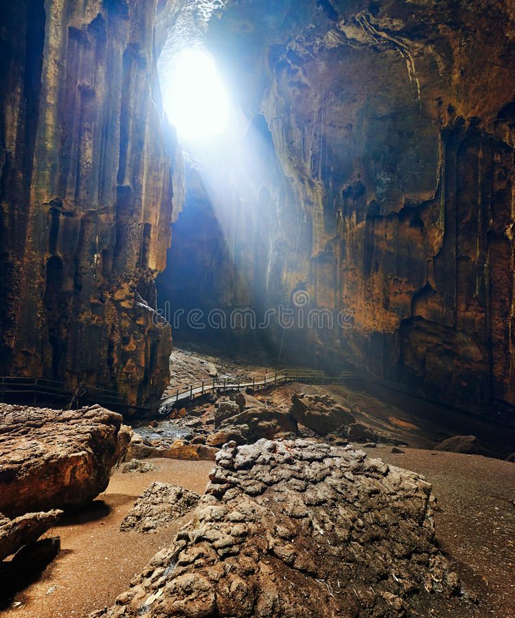 Eine der schönsten Höhlen von Borneo Gomantong.Malaysia lizenzfreies stockfoto