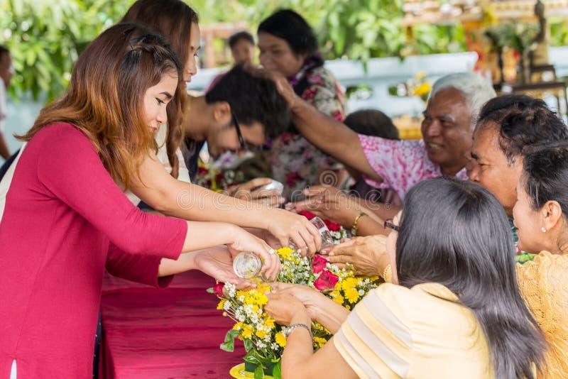 Eine der Traditionen von Nord-Thailand stockfotografie