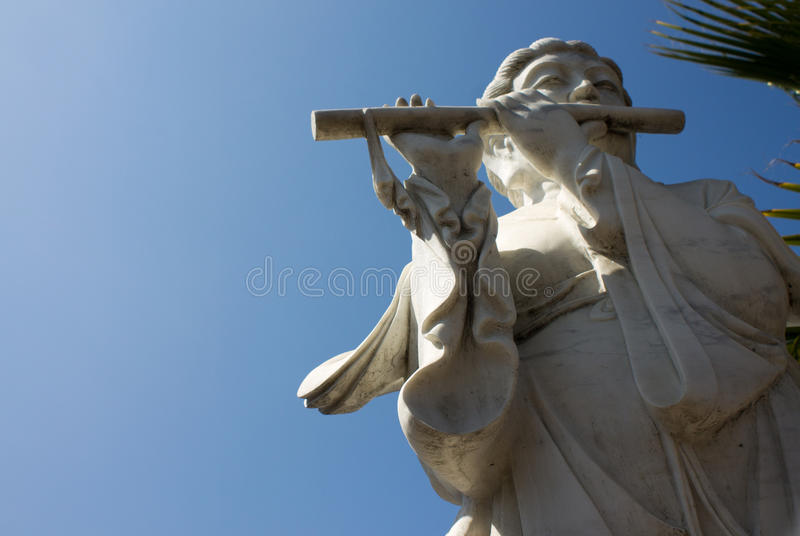 Flötenspieler lizenzfreie stockfotos