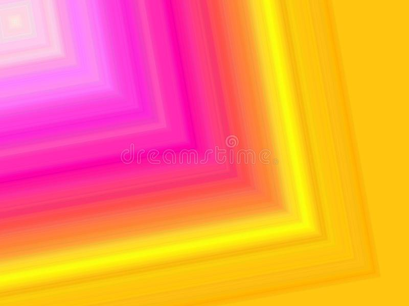 Eine digitale Kunst des vibrierenden Farbrückseitenbodens stock abbildung