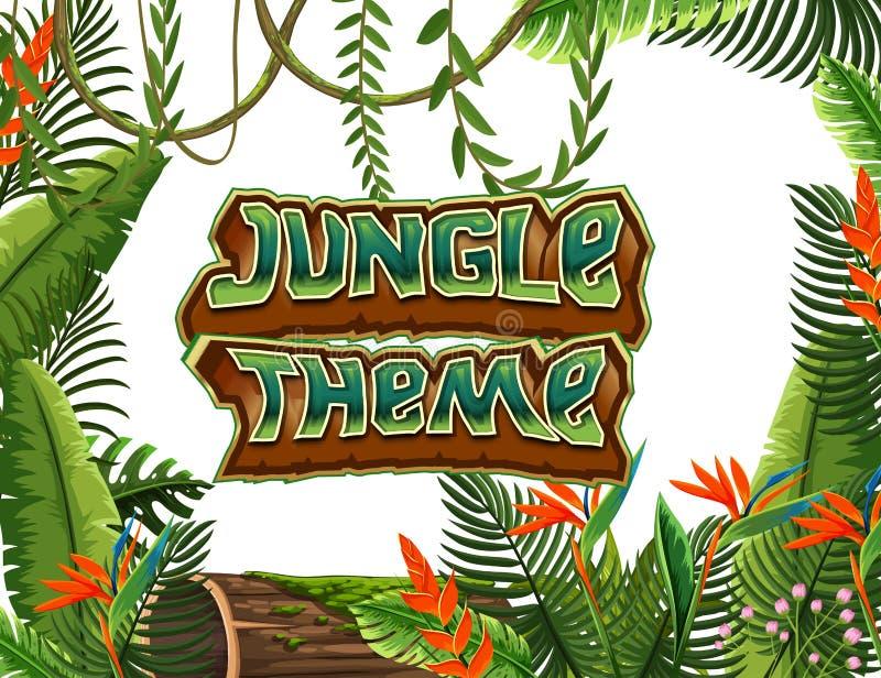 Eine Dschungelthemaschablone lizenzfreie abbildung