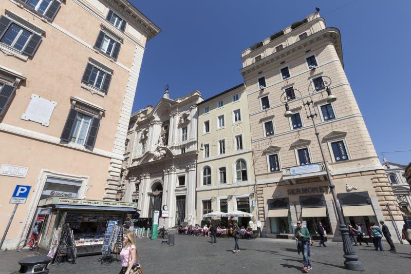 Eine Ecke von Largo di Torre Argentina in Rom (alte Stadt) Italien stockfotografie