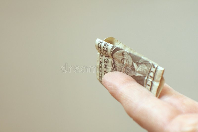 Eine ein-Dollar-Spitze stockbild