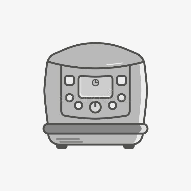 Eine einfache flache Ikone, damit multicooker verschiedene Teller tut stock abbildung