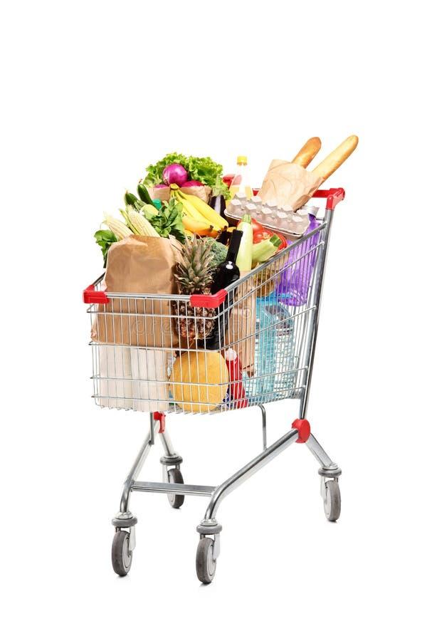 Eine Einkaufstasche voll mit Lebensmittelgeschäften lizenzfreie stockfotografie