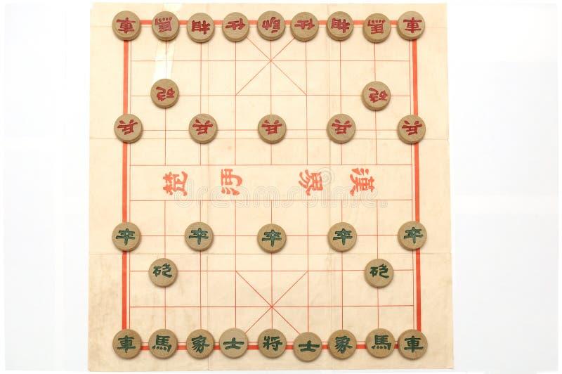 Eine Einrichtung eines Spiels des chinesischen Schachs stockbilder