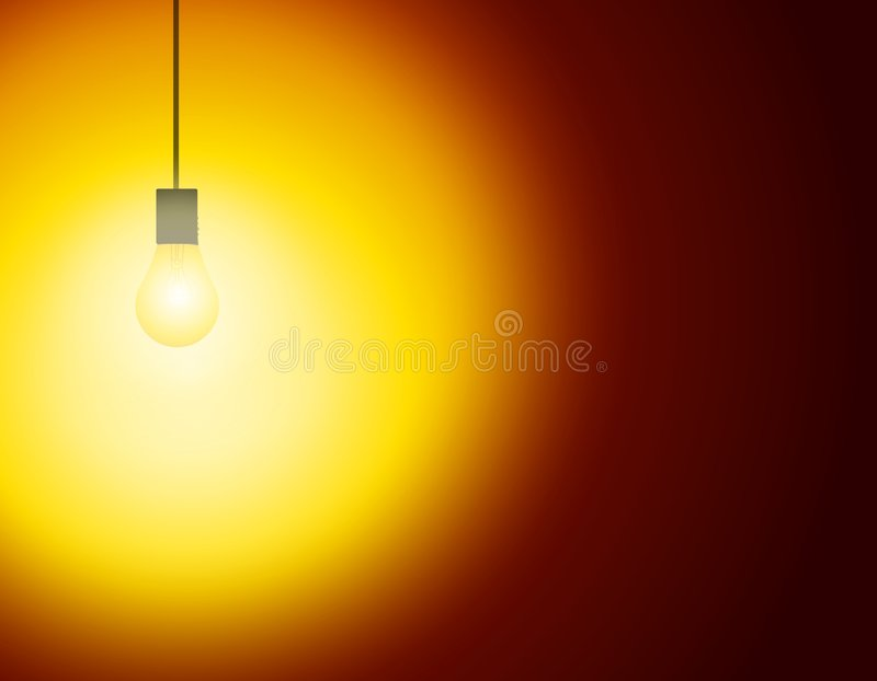 Eine einzelne Leuchte im dunklen Raum