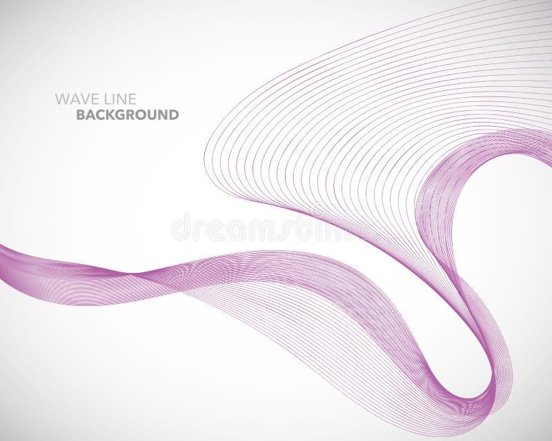 Eine elegante abstrakte Vektorwellenlinie futuristische Arthintergrundschablone vektor abbildung