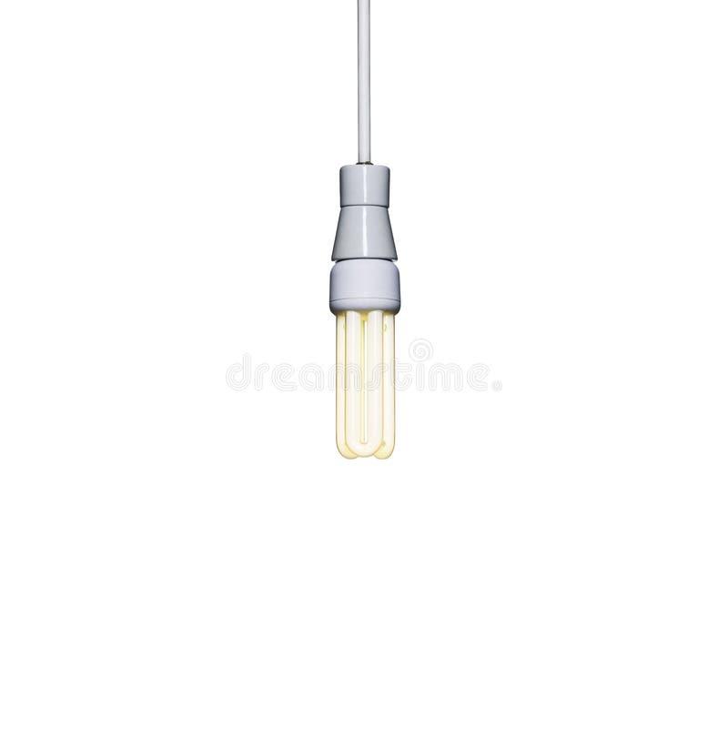 Eine energiesparende Glühlampe lizenzfreie abbildung