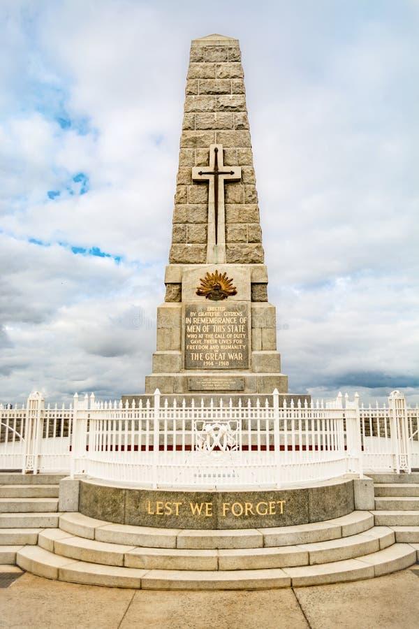 Eine Erinnerungs- Statue Anzac, Könige parken, Perth, West-Australien stockbild