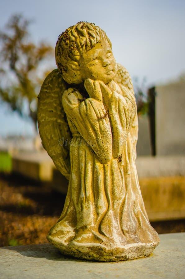 Eine ernste Dekoration oder eine ernste Statue lizenzfreies stockbild