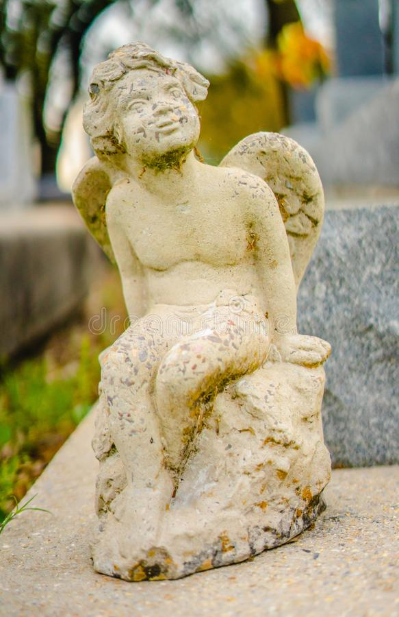 Eine ernste Dekoration oder eine ernste Statue lizenzfreie stockfotos