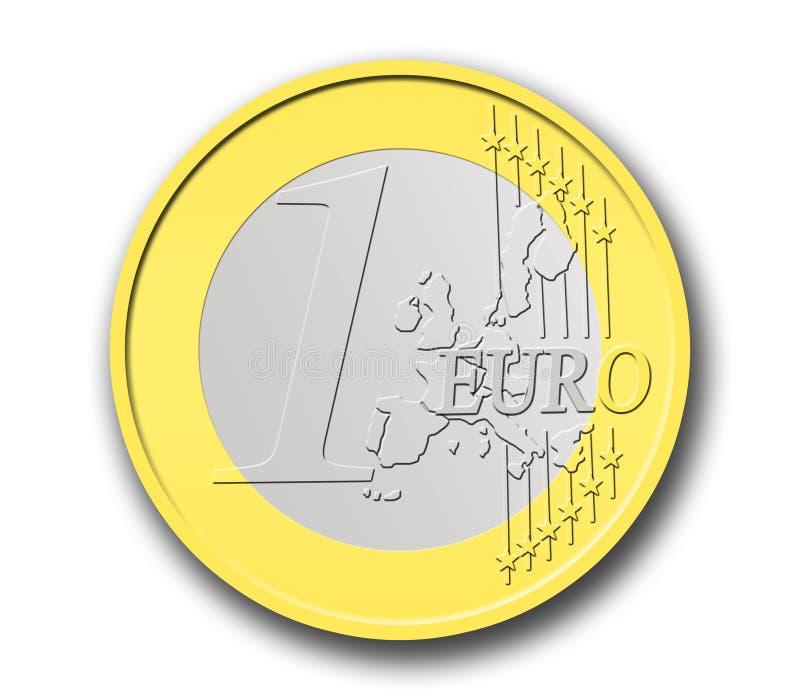 Eine Euromünze stock abbildung