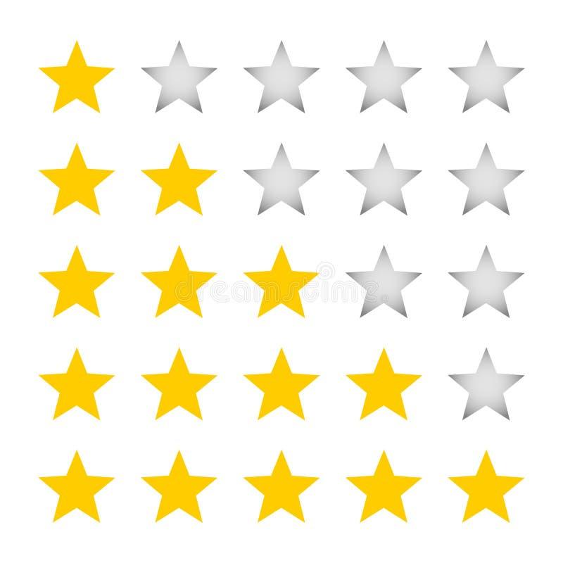 Eine Fünf-Sternebewertung vektor abbildung