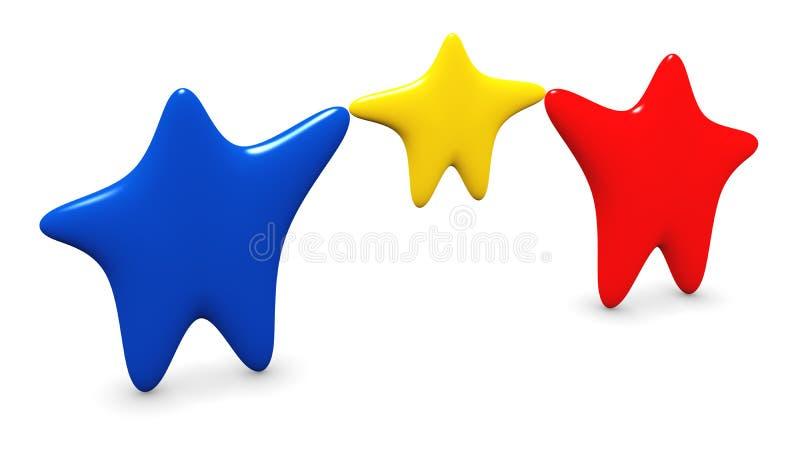 Eine Familie der Sterne stock abbildung