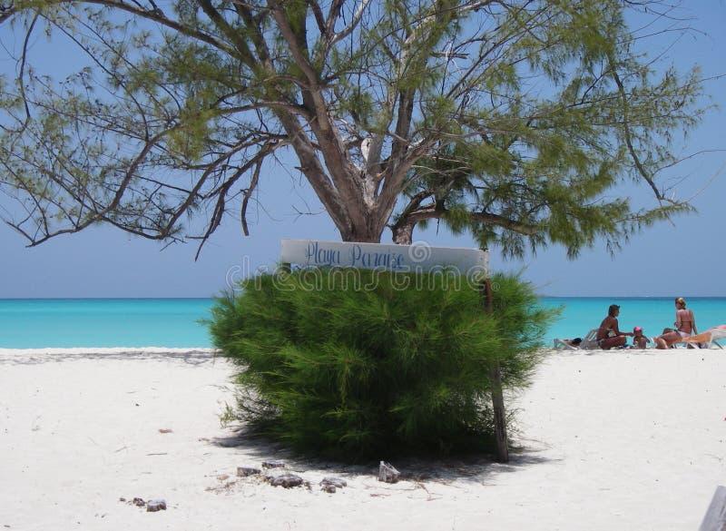 Eine Familie am Paraiso Strand stockbilder