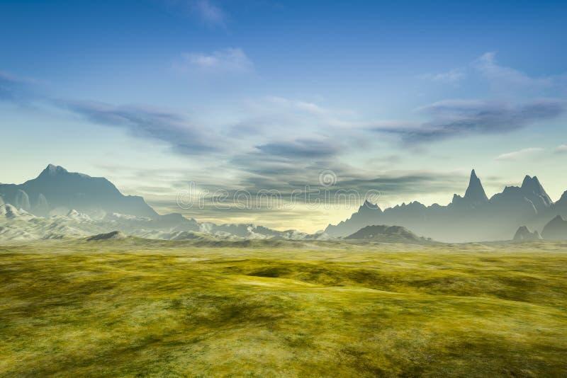 Eine Fantasielandschaft ohne Anlagen vektor abbildung