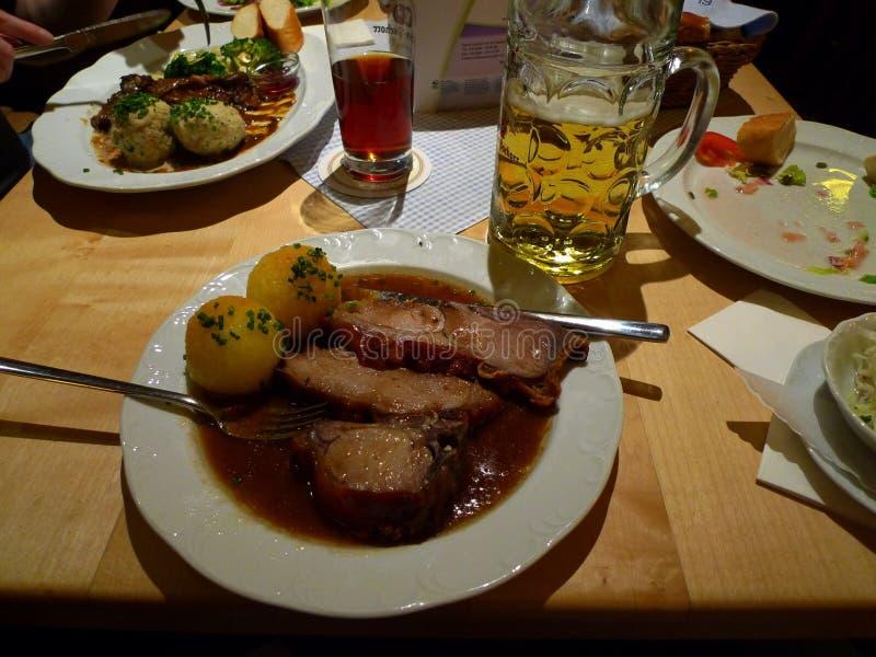 Eine feine bayerische Mahlzeit stockfoto