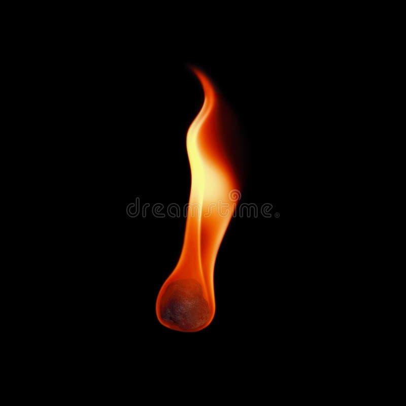 eine Feuerkugel lokalisiert auf Schwarzem lizenzfreie stockfotos