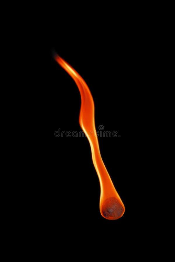 eine Feuerkugel lokalisiert auf Schwarzem stockbilder