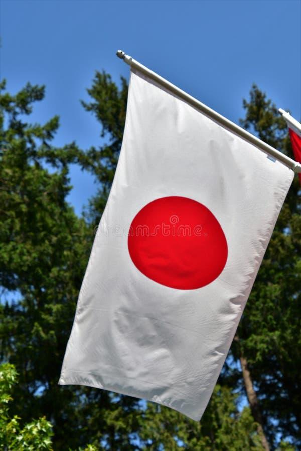 Eine Flagge von Japan lizenzfreie stockfotos
