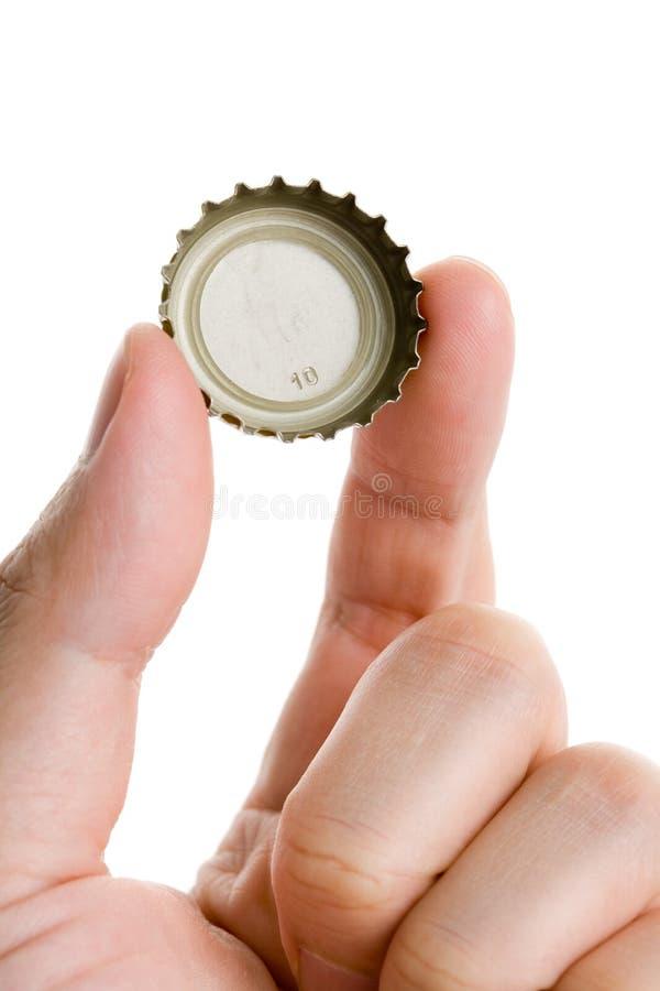 Eine Flaschenkapsel lizenzfreie stockfotos