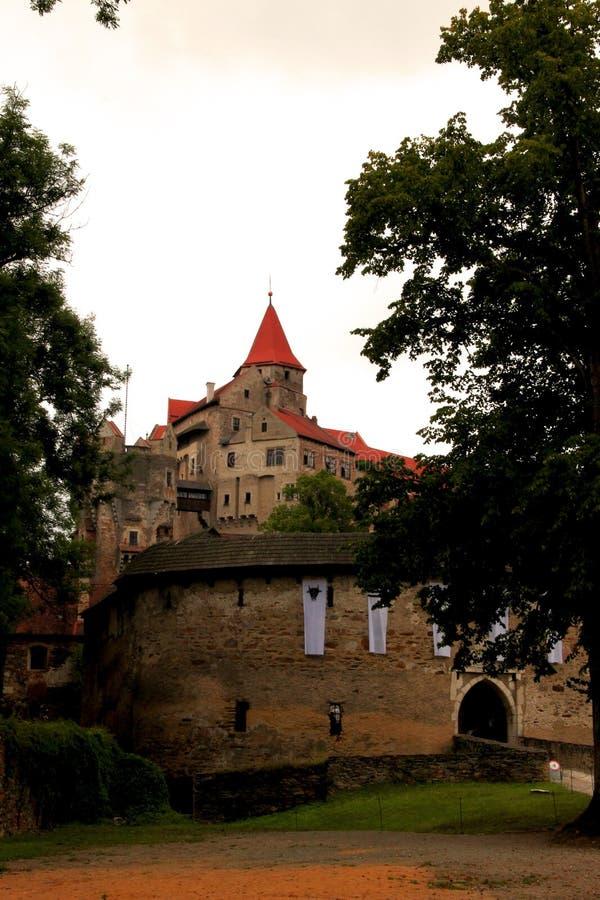 Eine Fotografie eines Schlosses stockbild