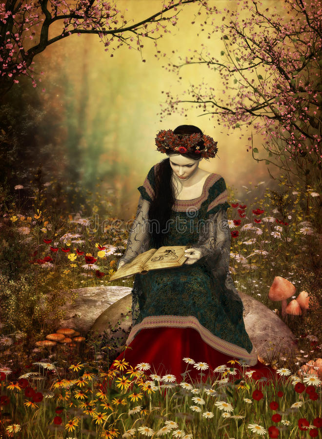 Eine Frau, die ein Buch liest vektor abbildung