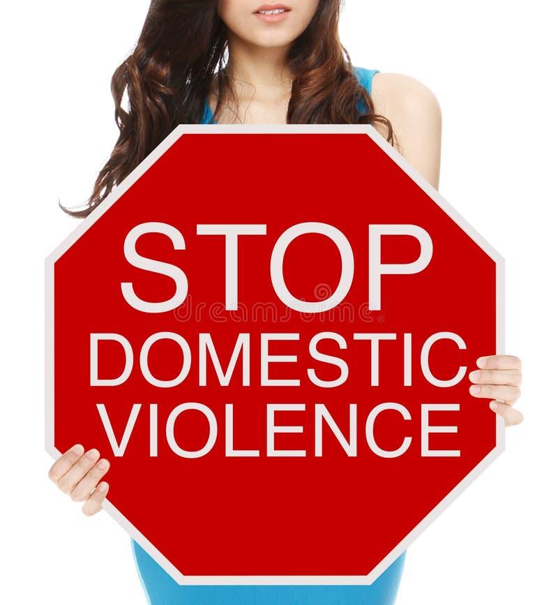 Stoppen Sie häusliche Gewalt lizenzfreie stockfotografie