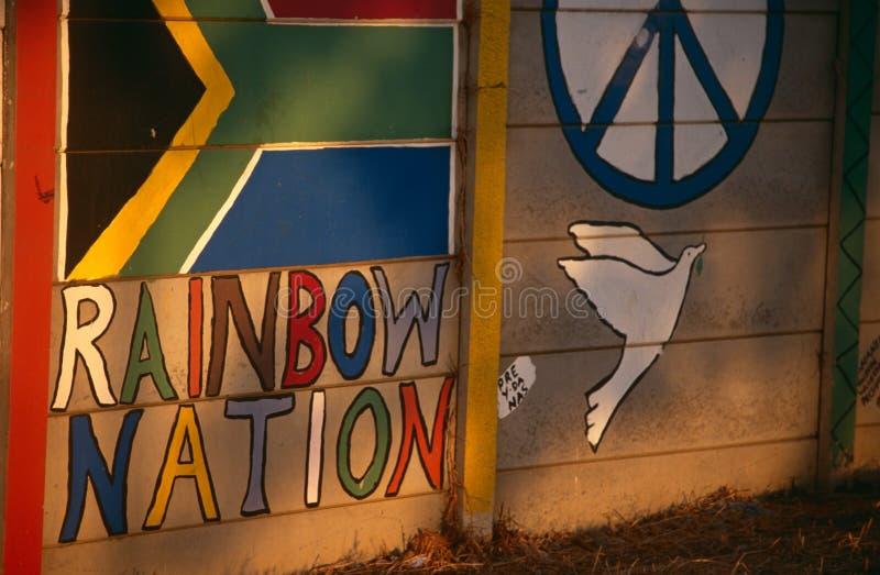 Eine gemalte Wand, Südafrika lizenzfreie stockbilder