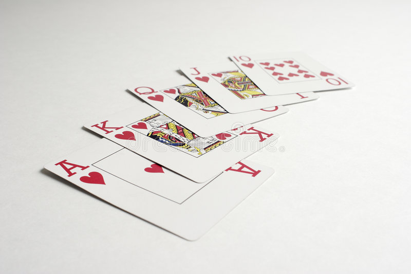Eine gewinnende Hand des königlichen Errötens im Schürhaken lizenzfreies stockbild