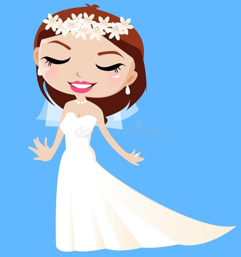 Eine glückliche Braut stock abbildung