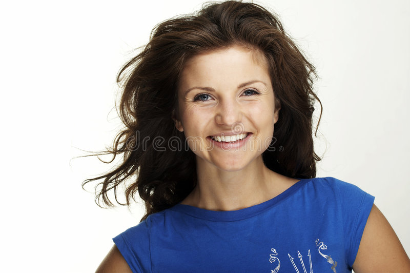 Eine glückliche junge Frau stockbilder