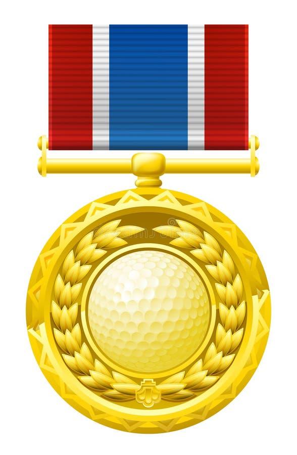 Spielen Sie Medaille Golf Stockfotos