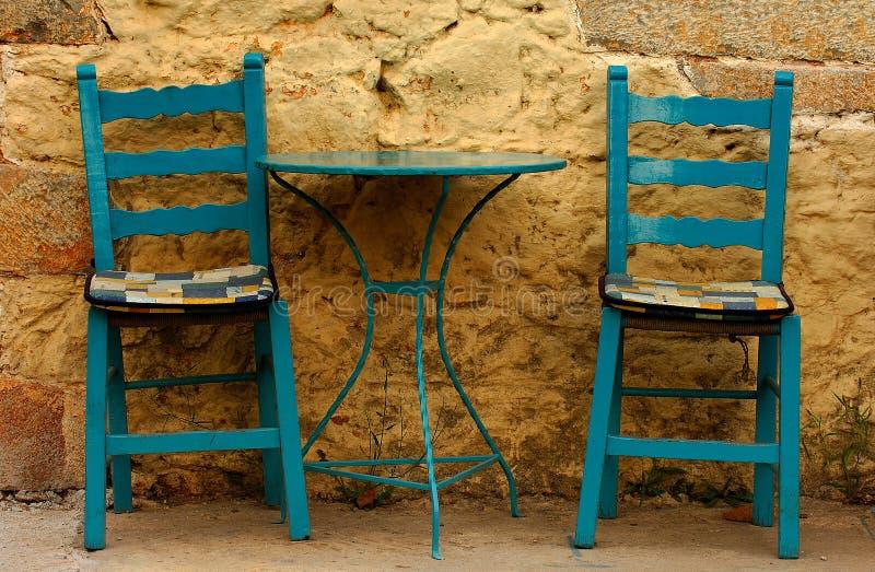 Eine griechische Einstellung lizenzfreies stockbild