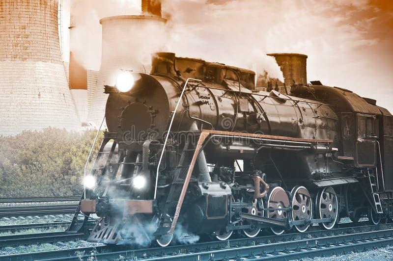 Eine große alte Arbeitsdampf-Serie lizenzfreie stockfotografie